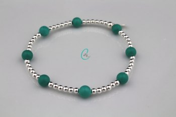Chunky Colour Pop Bracelet - Turquoise