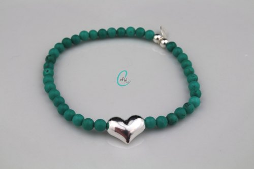Turquoise heart stretch bracelet | Summer Loving | CeFfi