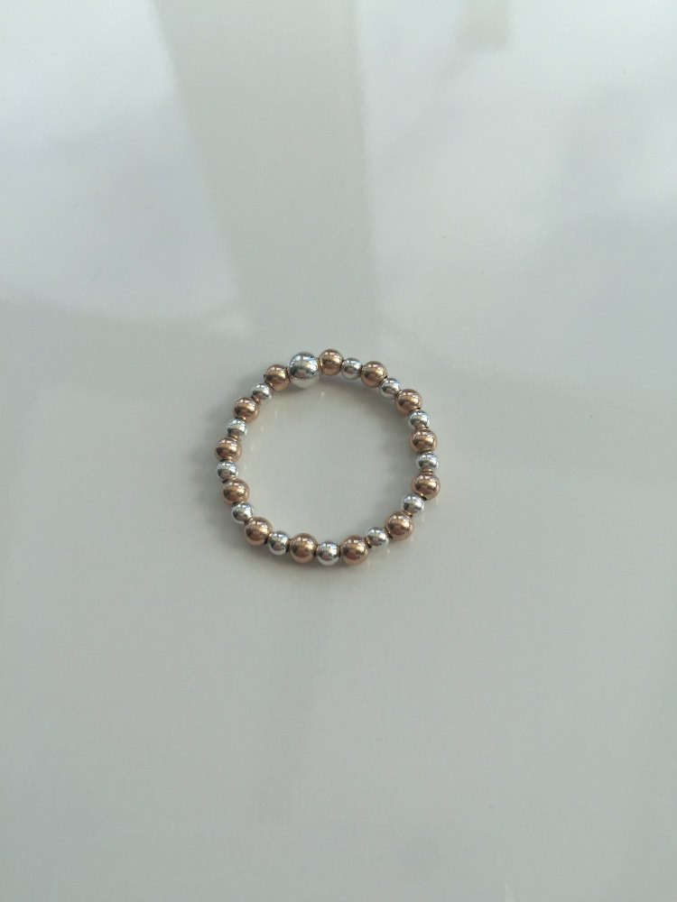 Silver and rose gold stretch ring | CeFfi