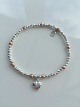 Touch of Rose Ball Bracelet