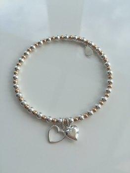 Rose Hearts Bracelet