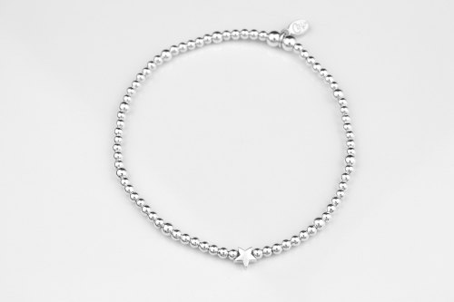 Sterling Silver Star Stretch Bracelet Mini Ceffi Jewellery
