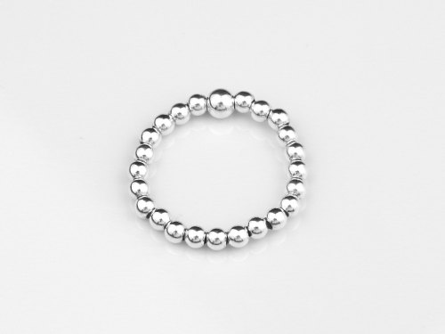 Sterling silver ball stretch ring | Ball Stacker Ring | CeFfi Jewellery