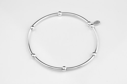Silver noodle stretch bracelet | CeFfi