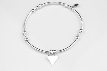 Noodle Bracelet - Flat Heart