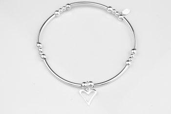 Noodle Bracelet - Flat Open Heart