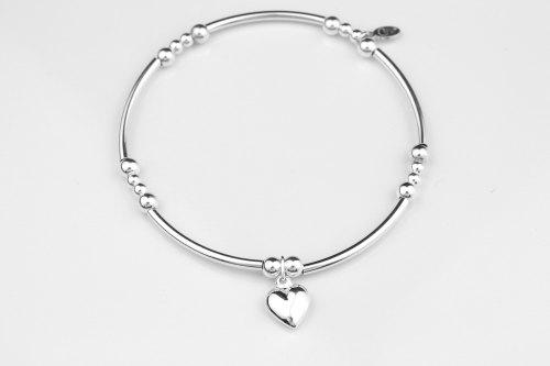 Heart silver stretch bracelet   CeFfi