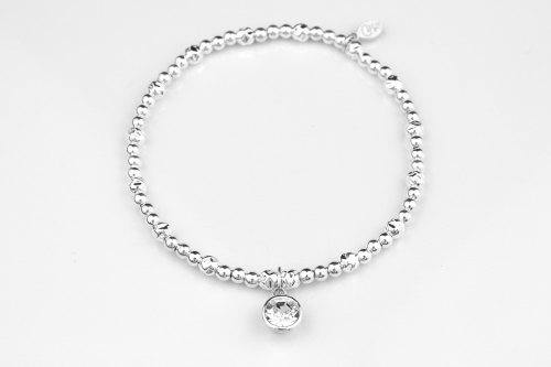 Cz silver stretch bracelet | CeFfi