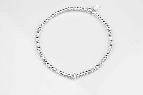Dainty silver flower bracelet | CeFfi