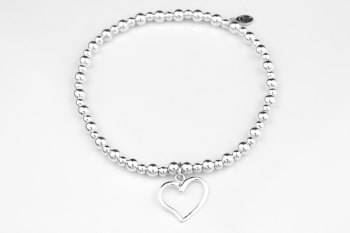 Bobble Bracelet - Open Heart