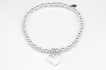 Bobble Bracelet - Open Heart