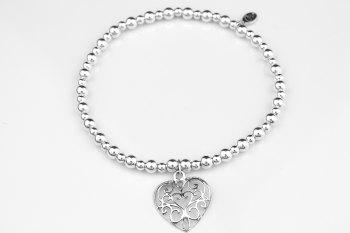 Bobble Bracelet - Filigree Heart