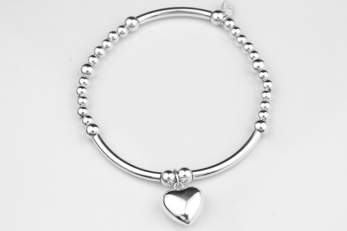 Chunky heart stretch bracelet | CeFfi