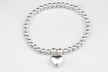 Simple Chunky Bracelet - Puff Heart