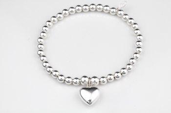 Simple Chunky Bracelet - Puff Heart