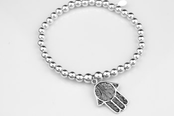 Simple Chunky Bracelet - Hamsa