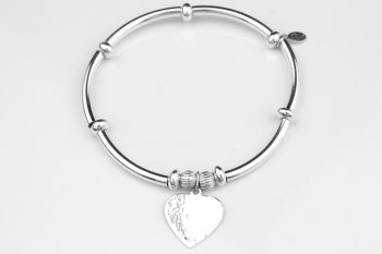 Textured Heart Bracelet
