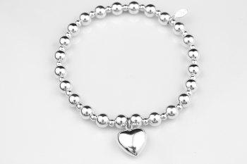 Chunky Bobble Bracelet - Puff Heart