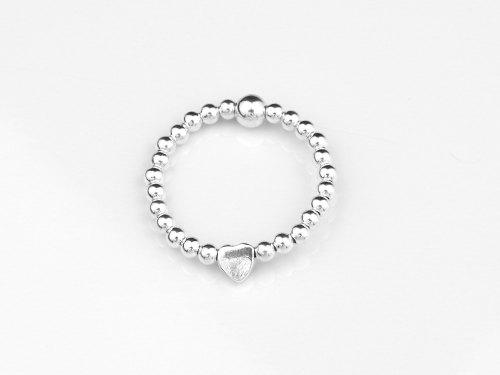 Dainty silver heart ring | CeFfi