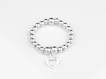 Charm Ring - Open Heart
