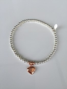 Touch of Rose Bracelet - Heart