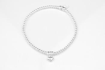 Dainty Bracelet - Puff Heart