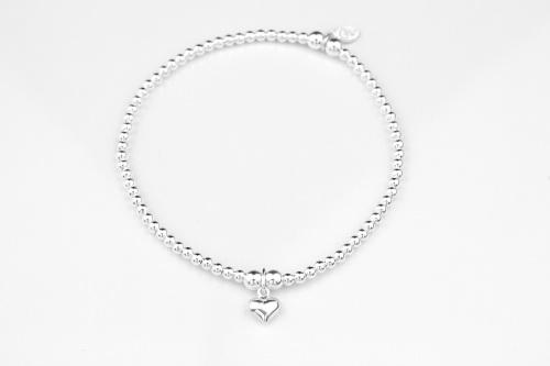 Dainty silver bracelet with heart | CeFfi