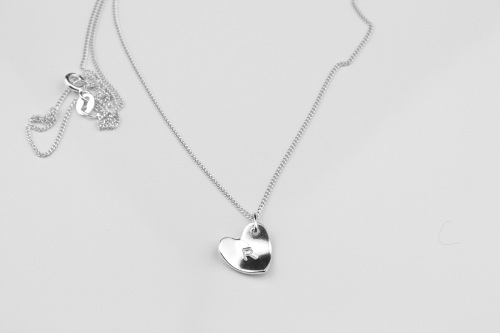 Initial necklace, heart initial necklace | CeFfi