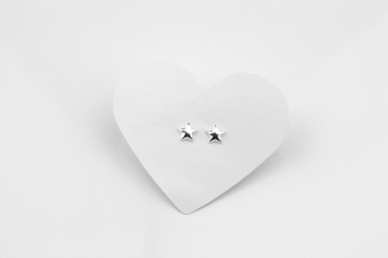 Dainty Puff Star Earrings