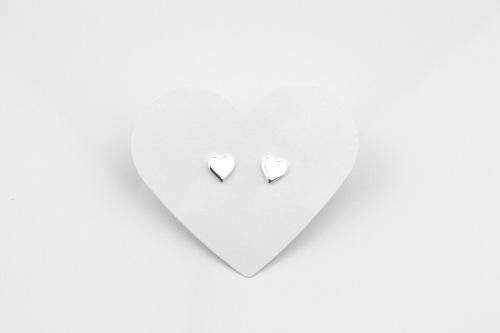 Silver heart studs | CeFfi