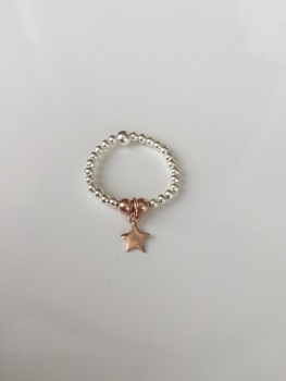 Dainty Touch of Rose Ring - Star