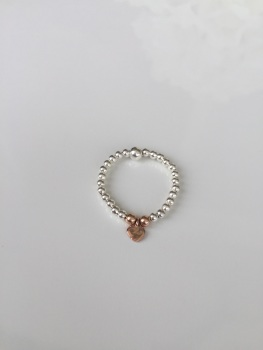 Dainty Touch of Rose Ring - Heart