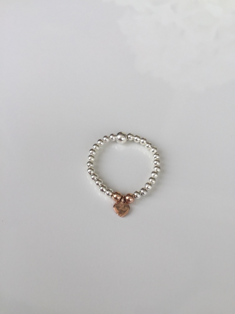 Rose gold heart ring | CeFfi