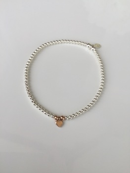 Dainty Touch of Rose Bracelet - Heart