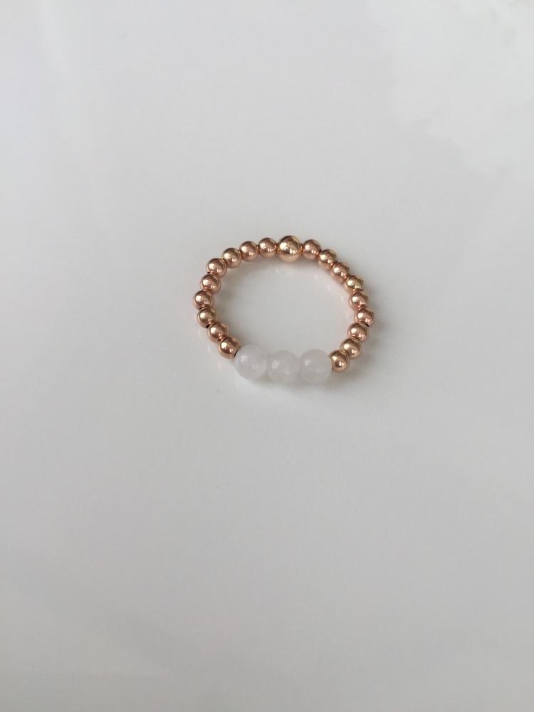 cfa5f019b6f Rose gold stretch ring