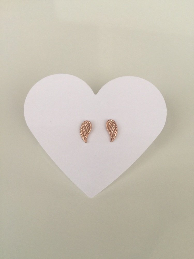 Angel wing rose gold studs | CeFfi