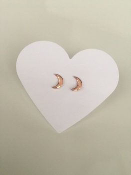 Rose Moon Earrings