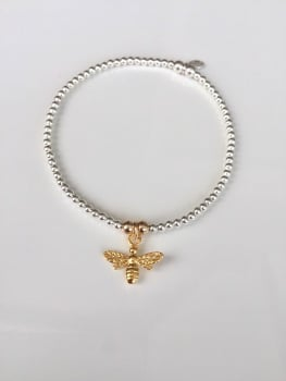 Dainty Golden Bee Bracelet