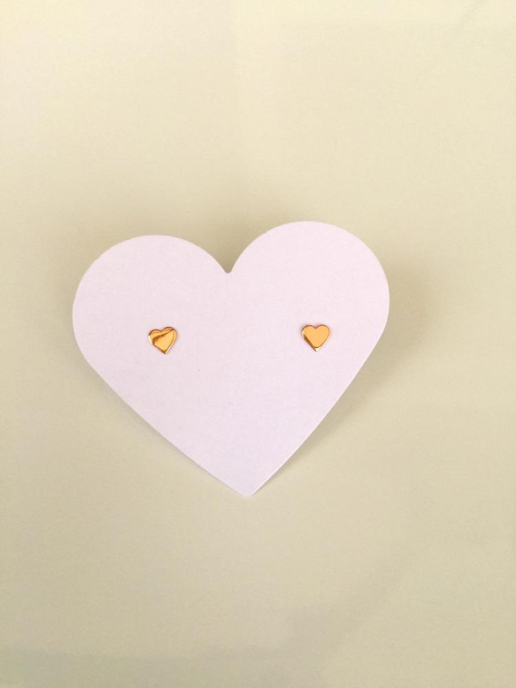 Rose gold heart earrings | CeFfi