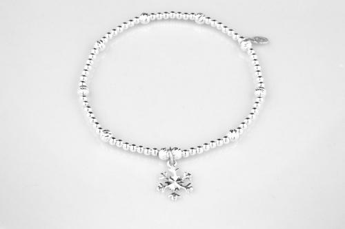 Snowflake bracelet sterling silver | CeFfi