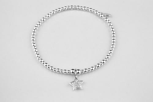 Sparkly silver star bracelet | CeFfi
