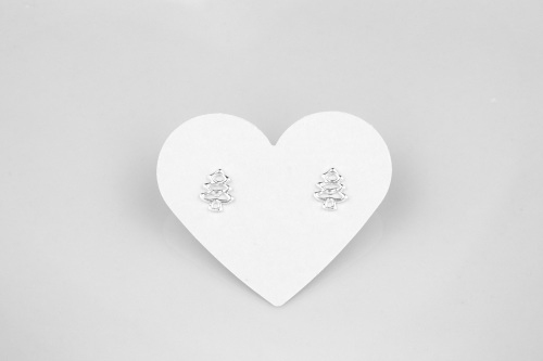Sterling silver christmas earrings, christmas tree earrings | CeFfi