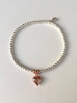 Touch of Rose Bracelet - Puff Heart