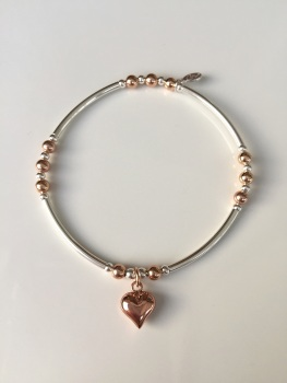 Touch of Rose Heart Noodle Bracelet