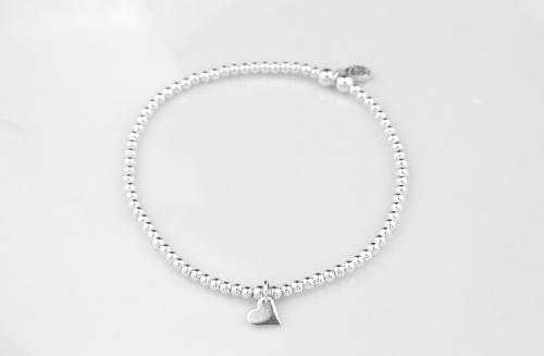 Sterling silver dainty heart bracelet | CeFfi