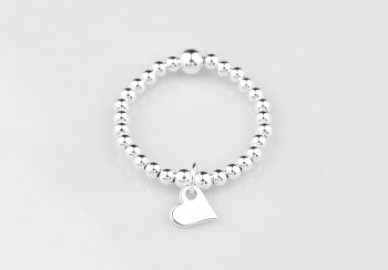 Dainty Heart Charm Ring