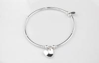 <!-- 071 -->Curved Heart Bracelet