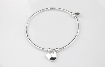 Curved Heart Bracelet