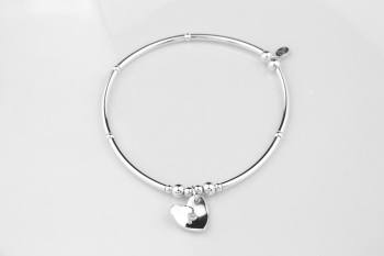 Personalised Curved Heart Bracelet