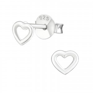 Dainty Open Heart Earrings